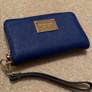 GENTLY USED!! Michael Kors royal blue clutch